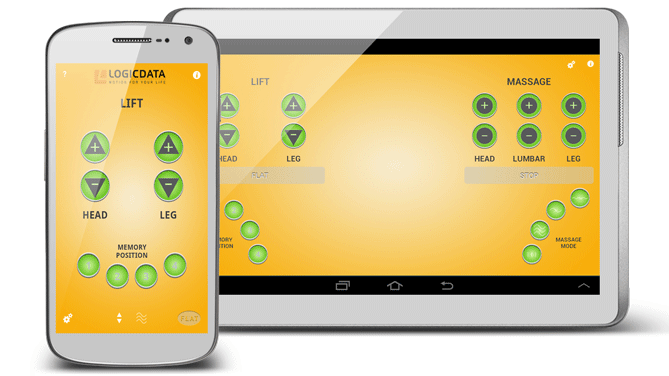 Die Level1 GmbH entwickelt die mobile Android App for LOGICDATA. Tempur International.